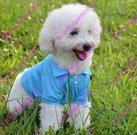 Wholesale Dog Gentleman - Pet Polo Shirt 2017 Dog Clothes Fashion Cotton Clothes Dog Puppy Classic Collar Polo T-Shirt Gentleman Style Cotton Pet Clothes XS-XL