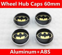 4 pz = 1 set / 60mm Refit KIA Skoda Subaru moderno pipistrello logo Decal wheel center hub caps adesivi emblema Car styling shippin Gratuito