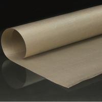 Wholesale High Temperature Sheet - Wholesale- 60*40CM Kitchen Oilcloth Non-stick Baking Sheet Mat High Temperature Resistant Fabric Cloth Oven BBQ Oil Paper Linoleum Mats