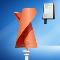 Wholesale Hybrid Charge Controllers - low free shipping wind generator 500w 12 24v vertical axis wind turbine with 600w wind charge controller for hybrid streetlight