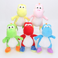 Wholesale Yoshi Plush Dolls - Super Mario Bros Green Yoshi Plush Stuffed toys Dolls Mario Plush Toys Red Blue Yoshi Dolls 18cm 25cm 40cm Free shipping
