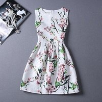 Wholesale Butterfly Print Dresses For Women - New A-Line dress for Women teenagers butterfly print sleeveless Ladies princess party dress 12 - 20 years 2017 Women's dress