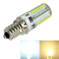 Wholesale Dimmable Candle Corn - E12 C7 Candle Candelabra Bulb Crystal Landscape Lamp Daylight Light 80-3014SMD LED Dimmable White Warm 120V 220V (pack of 10)