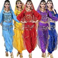 Wholesale Outfit Dress Sets For Women - Adult Female Indian Dance Performance Clothing Belly Dance Costume Full Sets Dress For Women Bellywood Ballroom Stage wear dancing Outfits