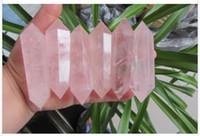 Wholesale Pretty Decorations - 1.6Lbs AA+ NATURAL PRETTY ROSE QUARTZ CRYSTAL WAND HEALING