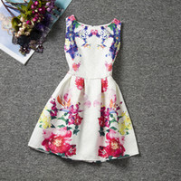 Wholesale New Coming Girls Dress - new coming fashion style floral girl dresses cute baby summer dresses high quality 20 colors best price