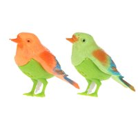 Wholesale Toy Birds Sing - Voice Control Music Bird Simulation Cute Sing Song Bird Toy Doll Electronic Pets Cage Decorations Toys Morning Birds