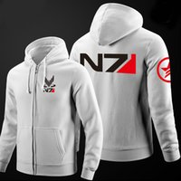 Wholesale mass effect hoodie - Wholesale- 2016 New RPG Game Mass Effect N7 Cotton Men Hoodies Sweatshirt Mens Sportswear Suit Pullover Men's Tracksuits Moleton Masculino