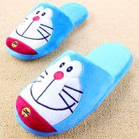 Wholesale Kawaii Cartoon Slippers - Wholesale-Cartoon Plush Slipper Kawaii Animal Home Shoes Soft Cute Plush Slippers For Men And Women Pantuflas Indoor Chaussons Hot Sale