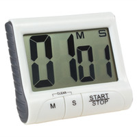 Wholesale Magnetic Timers - SALE 2 Colors Optional Magnetic Large LCD Screen Digital Kitchen Timer Alarm Count Up   Down Loud Beeping Sound LIF_501