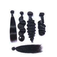 Wholesale Extension Sample Color - Brazilian Human Hair Straight Body Weave Deep Wave Loose Water Curly Kinky Curly Unprocessed Hair Wefts Extensions 1pcs Sample