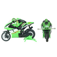 Wholesale Mini Racing Motorcycle - Wholesale-3CH 2.4G 1:20 High Speed Stunt Mini RC Remote Control Racing Motorcycle BIKE RTR Motorcycle Stunt