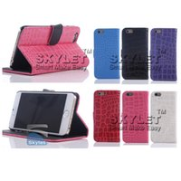 Wholesale Leather Id Flip Case - For Iphone 6 6s Alligator Wallet ID Credit Card KickStand Flip PU Leather Case Back Cover For Note 5 OPP Bag