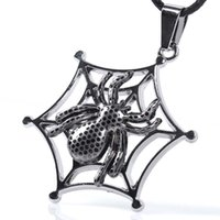 Wholesale Popular Christmas Ornaments - Europe and the United States retro spider titanium steel necklace star fashion models with the popular fashion jewelry exaggerated ornaments