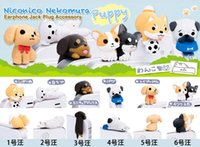 Wholesale Dog Anti Dust Earphone Jack - DHL FEDEX FREE SHIPPING With packaging dachshund Niconico Dog Anti dust plug for cell phone cute anime ear jack earphone cap wholesale
