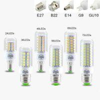 luces led al por mayor-SMD5730 E27 GU10 B22 E12 E14 G9 bombillas LED 7 W 9 W 12 W 15 W 18 W 110 V 220 V 360 ángulo LED Bombilla llevó la luz del maíz