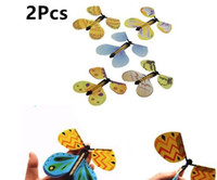 Wholesale 2 Magic Toys Hand Transformation Fly Butterfly Magic Tricks Props Funny Novelty Surprise Prank
