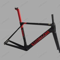 Wholesale Seat Post White - 2017 Many Colors For T800 Carbon Fiber Road Bicycle Frame+Fork+Seat Post+Clamp+Headset+bb30 or bb68 Adapter Size XS S M L XL