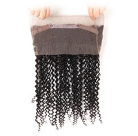 Wholesale kinky hair extensions products - 20 inch Brazilian human virgin hair 360 full lace hair product natural black jet black color 130% denisty lace extensions