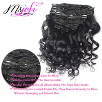 Loose wave clip hair extensions canada best selling loose wave 7a virgin human hair indian clip in extension loose wave full head natural color 7pcs set 12 28 inches from ms joli pmusecretfo Images