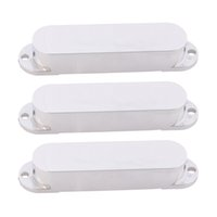 Wholesale Single Coil Pickup Covers - Set of 3PCS Strat Style Single Coil Guitar Pickup Cover Chrome Plated