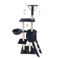 Wholesale Quality Marketing - Stairs Climbing Frame Five Layer Cat Tree Framework Pet House Play Platform Plush Cloth Factory Direct Marketing High Quality 102cy H R