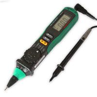 Wholesale Pen Type Digital Multimeter - Mastech Pen-type Meters Multitool Digital Multimeter uto Range DMM Multitester Current Voltage NCV Logic Diode Tester +B