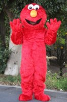 Wholesale Fur Movie - 2016 DHigh Quality Adult Adults Elmo Mascot Costume Sales High Quality Long Fur Elmo Mascot Costume