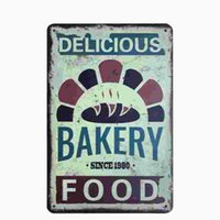 Wholesale Bakery Signs - [ Bakery ] Vintage Home Decor Tin Signs Shabby Chic Plaque Metal Decorative Vintage Metal Sign Placas Decorativas De Metal 20170414#