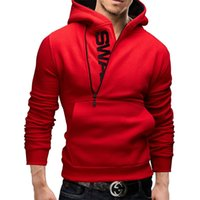 Wholesale Mens Slim Hoodies Wholesale - Wholesale-2016 Fashion Mens Hoodies Slim Casual Zipper Long Sleeve Pullover Hoodies Hip Hop Men Hooded Sweatshirt Plus Size 6XL