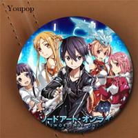Wholesale Online Women Accessories - Wholesale- Youpop Sword Art Online Anime Album Brooch Pin Badge Accessories For Clothes Hat Backpack Decoration Men Women Boy Girl XZ0508