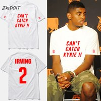 Wholesale Shirt Catch - new design fashion t shirt men Can't Catch Kyrie irving #2 basketball jersey tee shirt homme irving logo print t-shirt,tx2413