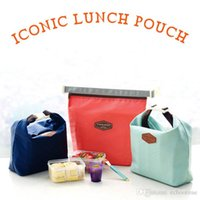 Wholesale Lowest Price Thermals - Lowest Price!! 500pcs Outdoor Lunch Bag Picnic bag Iconic Lunch Pouch Carry Tote Container Warmer Cooler Bag Nylon Storage Bags