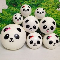 Wholesale Panda Jumbo Bun - free shipping 4cm 7cm 10cm kawaii soft scented squishy jumbo panda slow rising squeeze bun toy phone charm squishies bread