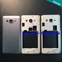 ingrosso copertine posteriori per la grand galassia di samsung-Di alta qualità per Samsung Galaxy Grand Prime SM-G531 G531 G531F cornice centrale cornice + coperchio della batteria porta posteriore 4 colori