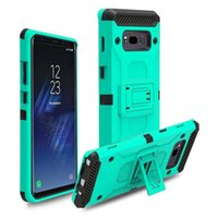 Wholesale Dual Layer Holster Case - For ZTE N9517 N9137 N9560 Hybrid TPU PC 2 In 1 Dual Layer Protection Tough Armor With Holster Clip Case For iPhone X 7 6 6S Plus Opp Bag