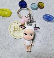 Wholesale rubber dolls free resale online - Angle Keychains Supper lovely vinyl Doll Pendant Keychain For Bag Pursefation hotseller Doll Fans Product free ship