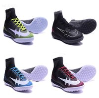 Wholesale New Indoor Shoes - New 2017 Hot Sale Mens MercurialX Proximo II TF Soccer Shoes Indoor Football Boots MercurialX Proximo II IC Athletic Shoes Size 6.5-12