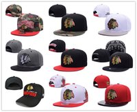 Wholesale Hiphop New Style - 2017 New style Arrived Chicago Blackhawks gorras planas Hat Adjustable Baseball bones aba reta Snapback Hockey Cap Adjustable Hiphop chapeu