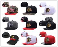 Wholesale Snapback Hats New Arrive - 2017 New style Arrived Chicago Blackhawks gorras planas Hat Adjustable Baseball bones aba reta Snapback Hockey Cap Adjustable Hiphop chapeu