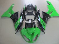 Wholesale Kawasaki Zx6r Fairings Black Green - Top-selling motorcycel fairing kit for Kawasaki Ninja ZX6R 09 10 green black fairings set ZX6R 2009 2010 GT20