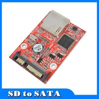 "Wholesale Ide Sdhc Adapter - Wholesale- Flash MMC SD SDHC Card To 7+15 SATA 2.5"" HDD Secure Converter Adapter for Windows DOS 98 XP 7 8 Vista Linux"