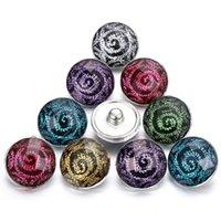 ingrosso braccialetto di resina del fiore di rosa-Nuovo arrivo resina snap gioielli fai da te Rose fiori bottoni a pressione Fit 18mm Snap bracciale gioielli braccialetti