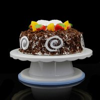 Wholesale Cake Rotating Stand - Cake Swivel Plate Revolving Decoration Stand Platform Turntable 28cm Round Rotating Cake Swivel Christmas Baking Tool Ct1030