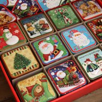 Wholesale Handmade Packaging For Candy - 10pcs lot Christmas Bear Series Handmade Tin Package Biscuit Mooncake Chocolate Candy Tin Box Christmas Gift for Party Supplies