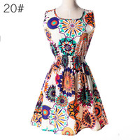 Wholesale Lowest Price Women S Clothing - Summer Women Dress Vestidos Print Casual Low Price China Clothes Femininas Roupas Office Ladies Female Bohemian Mini Beach Dress