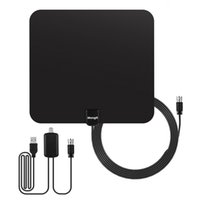Wholesale Digital Tv Hdtv Antenna - TV Aerial Digital HDTV Antenna, Indoor Aerial for Digital Freeview with 50 Miles Range Signal Amplifier for Digital Analog TV Signals