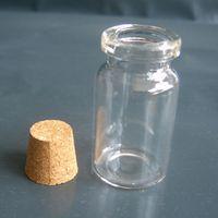 diy isteyen şişe kolye toptan satış-100 adet 4 ML / 7 ML Silindirik Cam Flakon Kolye Mini İstek Cork Şişe Minyatür Şişeleri Için DIY Isteyen Şişe Kolye