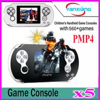 5pcs 2017 Classic PMP4 Portable Video Game Player Construit en 560Games, Jeux d'arcade de soutien + GBA + SEGA + SFC / NES Games Kids Gift YX-PMP4