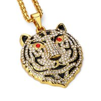 Nouveaux pendentifs Colliers Bear Mens Hip Hop Jewelry Full Rhinestone Pieces de remplissage Men Fashion Long Chain Animal Collier Jewelry